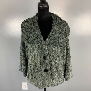 CAbi, XL gray swing button up jacket